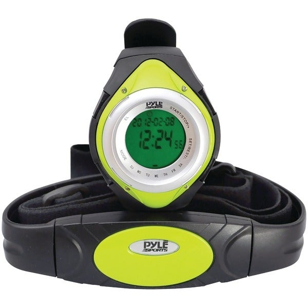 PYLE PRO PHRM38GR Heart Rate Monitor Watch with Minimum, Average & Maximum Heart Rate (Green)