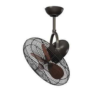 "Vaxcel Lighting ELSTON18 Elston 18"" 3 Blade Ceiling Fan with Cage"