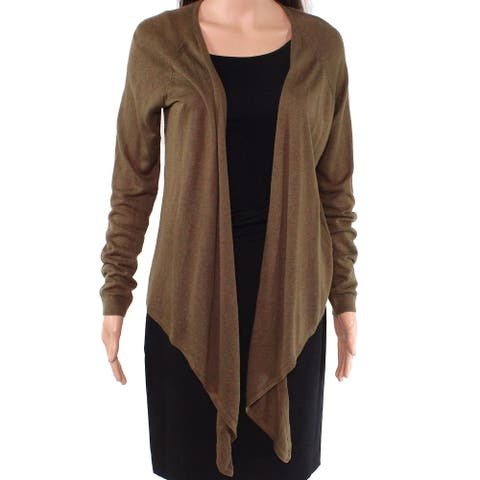 Lauren by Ralph Lauren Women Sweater Olive Green Size Small S Cardigan