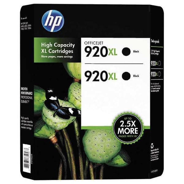 HP 920XL Black 2-Pack High Yield Cartridges CN701BN