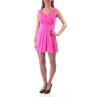 EMERALD SUNDAE $39 Womens New 1402 Pink Tie Sleeveless Dress 1 Juniors B+B