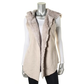 Dylan Womens Hooded Faux Fur Vest