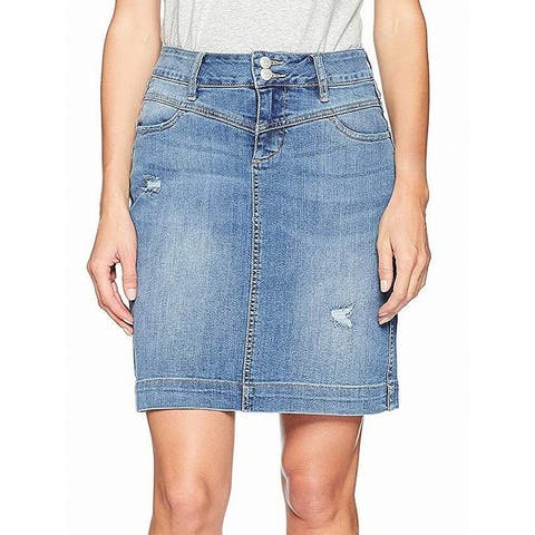 JAG Jeans Womens Sherwood Denim Skirt Blue Size 2P Petite Mineral Wash