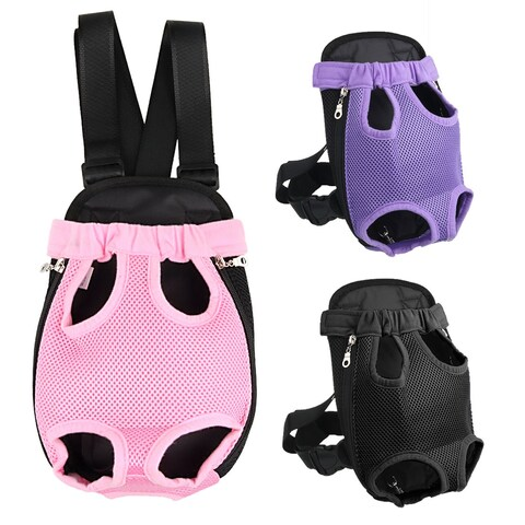 Portable Convenient Pet Legs Out Front Backpack Small Dog Cat Carrier Bag for Outdoor Travel
