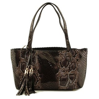 Buco Small Snake Printed Tote Women   Synthetic  Tote - Black