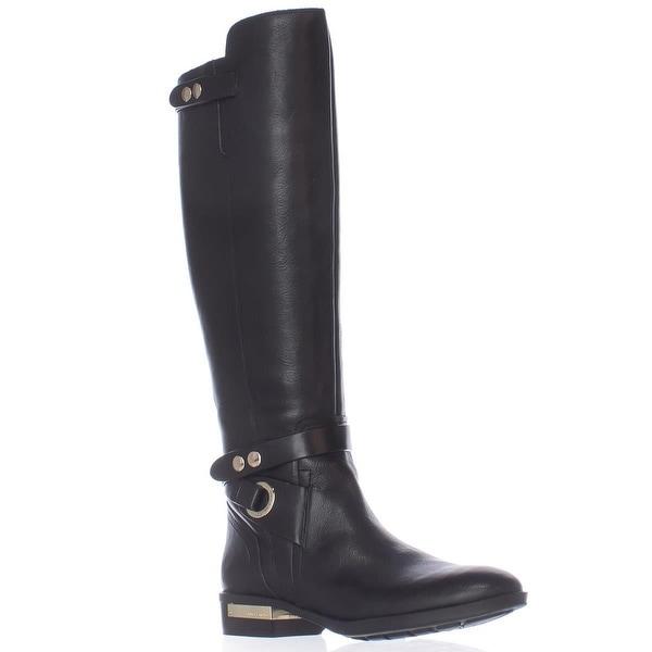 Vince Camuto Prini Wide Calf Tall Boots, Black