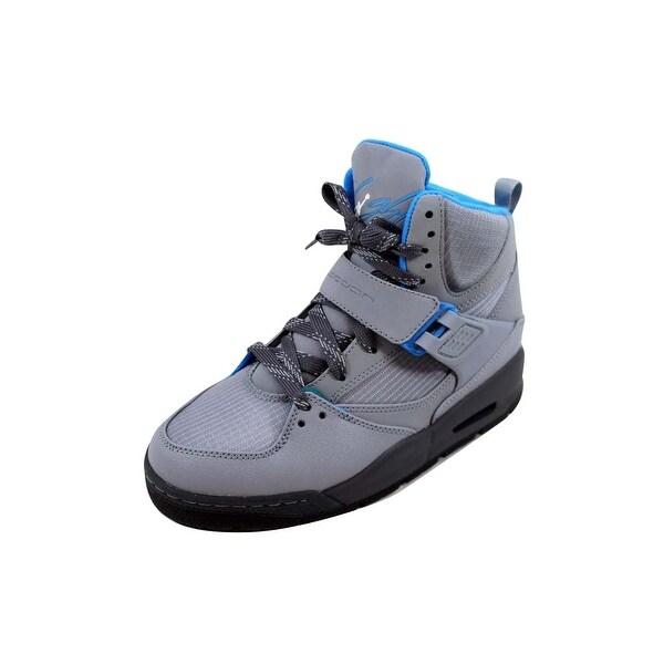 6af7dc988926d0 Nike Grade-School Air Jordan Flight 45 Trek Stealth Dark Grey-Photo Blue