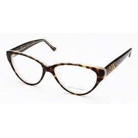Judith Leiber Marquetry Eyeglasses Tortoise White
