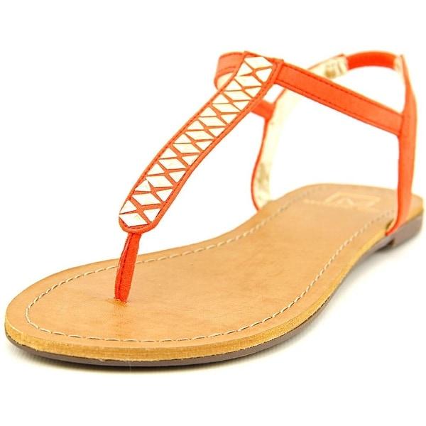 Material Girl Sage Women Open-Toe Synthetic Orange Slingback Sandal