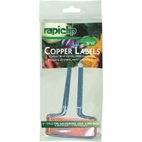 """Rapiclip 4Pk 6"""" Copper Plnt Label"""