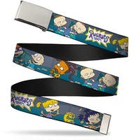 Blank Chrome  Buckle Rugrats Cookie Scene Webbing Web Belt - S