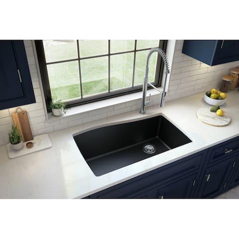 Karran Undermount Quartz Single Bowl Kitchen Sink