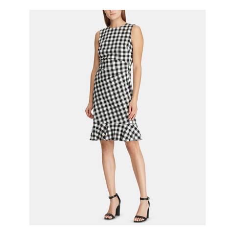 RALPH LAUREN Black Sleeveless Knee Length Dress 18