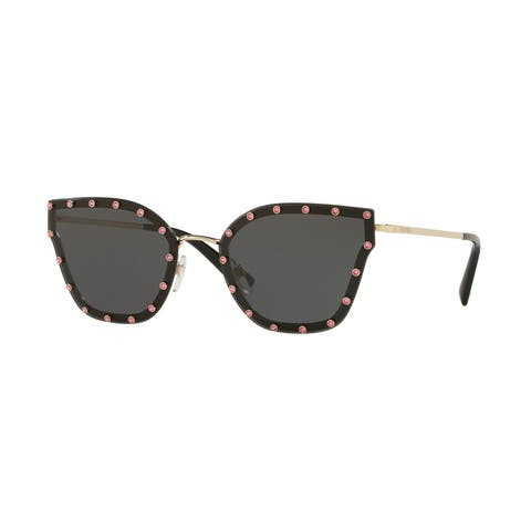 Valentino VA2028 300387 59 Light Gold Woman Butterfly Sunglasses