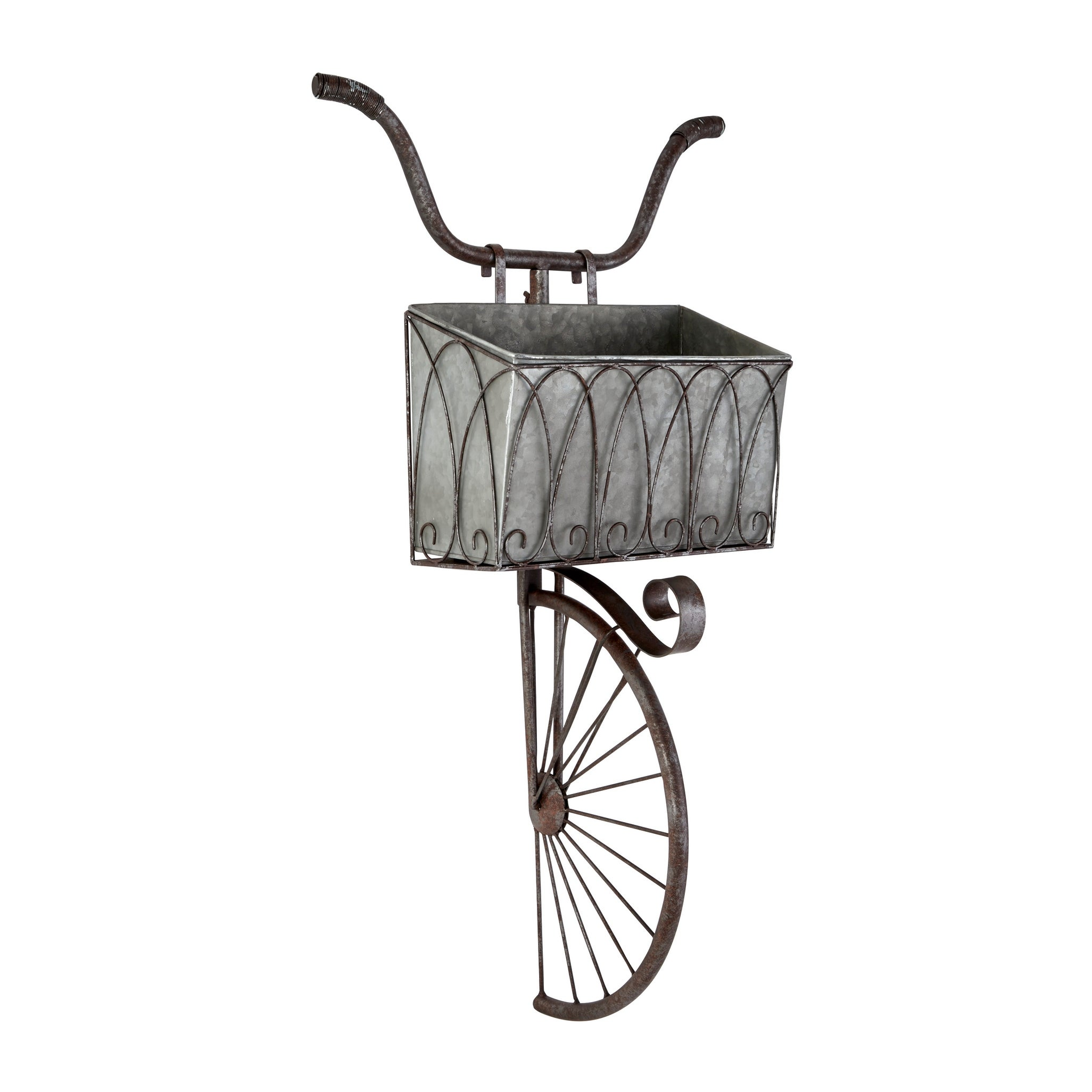 Shop Large Vintage Style Galvanized Steel Wall Planter 23 X 35 20 X 9 X 38 On Sale Overstock 28654915