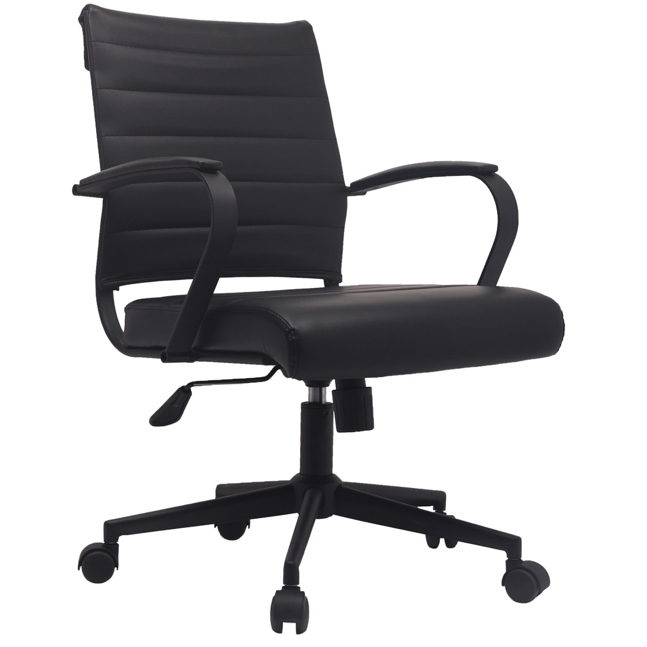 2xhome Office Chairs Mid Back Ribbed