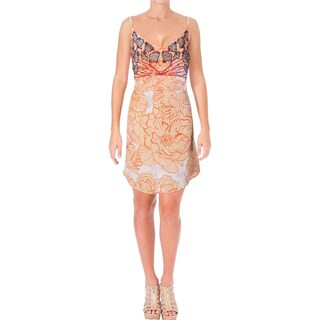 Guess Womens Slip Dress Sequined Sleeveless - L