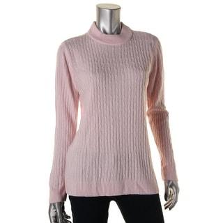 Karen Scott Womens Petites Mock Turtleneck Knit Pullover Sweater