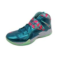 Nike Men's Lebron Zoom Soldier VII 7 Dark Sea/Pink Foil-Wolf Grey-Green Glow Power Couple South Beach 599264-300