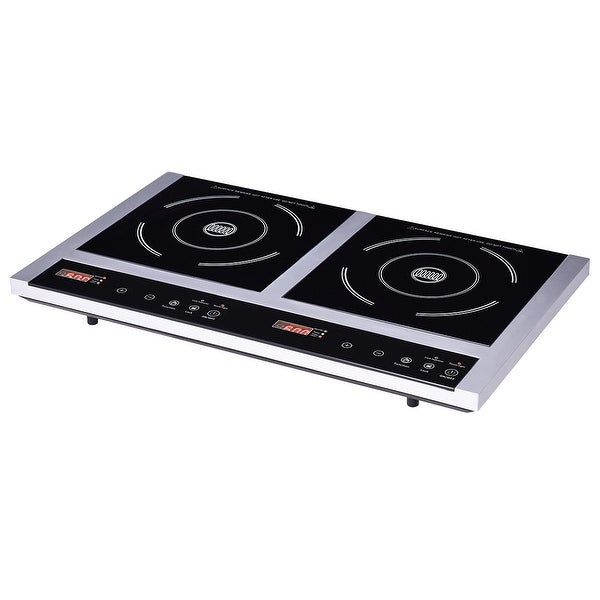 Shop Gymax New Double Burner Cooktop Electric Induction