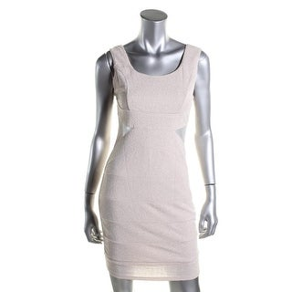 Crystal Doll Womens Plus Bandage Mesh Insert Party Dress - M