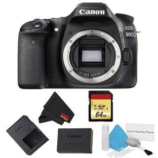Canon EOS 80D DSLR Camera Body Only Basic Bundle (Intl Model)