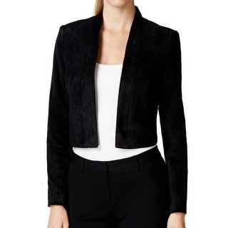Calvin Klein NEW Black Women's Size Small S Faux-Suede Solid Jacket