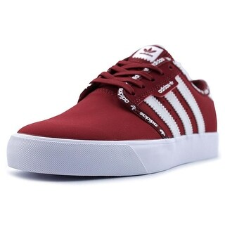 Adidas Seeley J Youth Round Toe Synthetic Red Sneakers