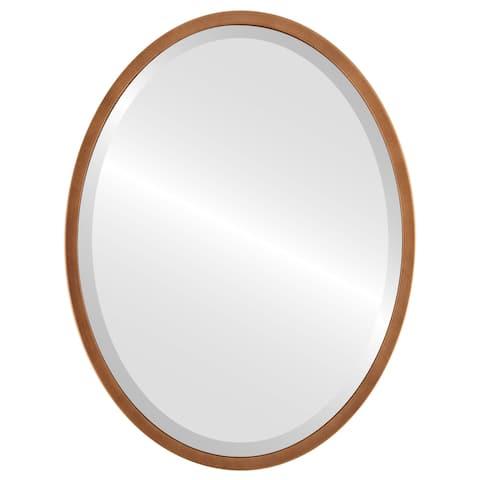 London Framed Oval Mirror - Sunset Gold