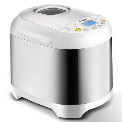 Costway Stainless Steel 2LB 550W Electric Bread Maker Machine