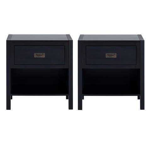 Carson Carrington Modern 1-Drawer Nightstands, Set of 2