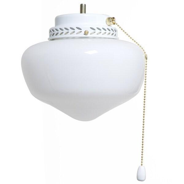 Boston Harbor CCF-9SLK-WH School House Ceiling Fan Light Kits, White