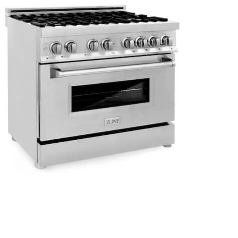 ZLINE 4.6 cubic feet6 Gas Burner, Electric Oven Range (RA36)