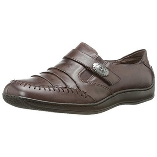 Walking Cradles Womens Bistro Leather Casual Loafers - 6 extra wide (e+, ww)