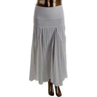 Solitaire Womens Seamed Mid-Calf A-Line Skirt - XL