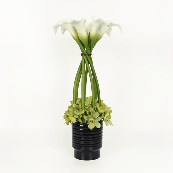 Shop G Home Collection White Lily And Green Hydrangea Flower