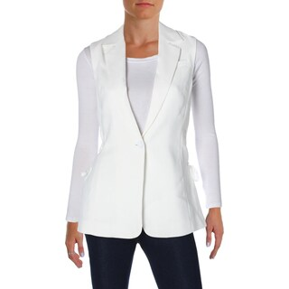 Rachel Roy Womens Vest Lace Up Sleeveless (Option: White - s)