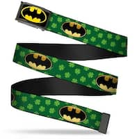 Batman Fcg Black Yellow Chrome Bat Shield Clovers Green Black Yellow Web Belt