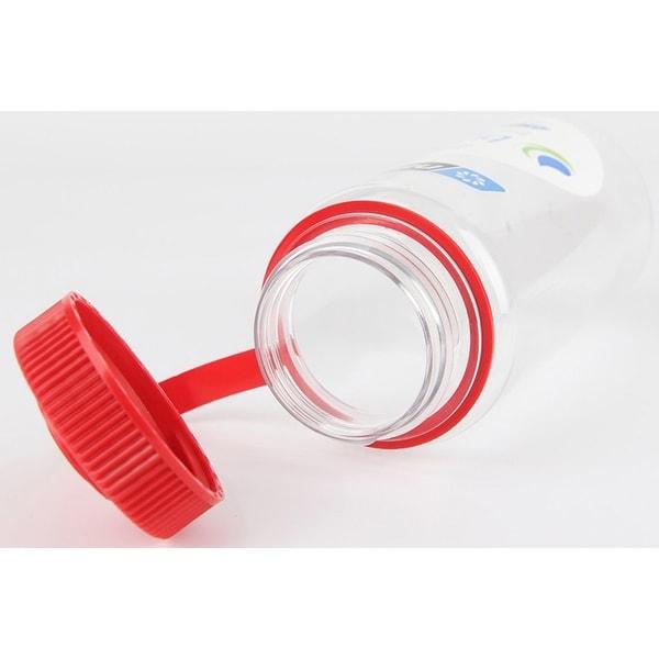 Nalgene Tritan Wide Mouth 16 oz Water Bottle Clear//Red