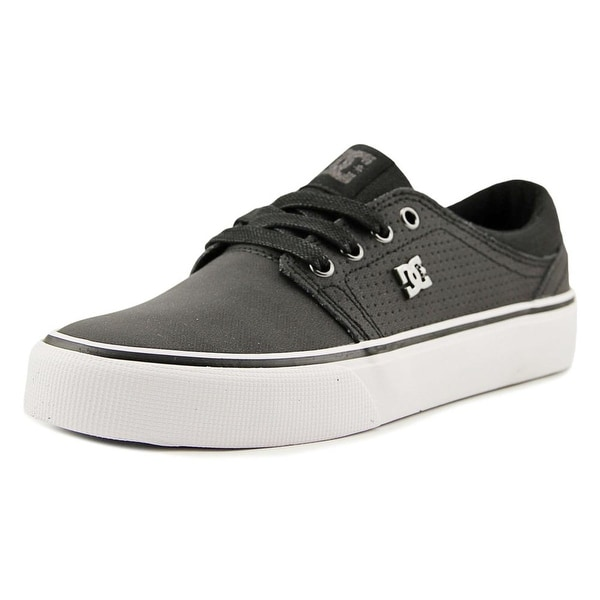 DC Shoes Trase LE Men Round Toe Leather Black Skate Shoe