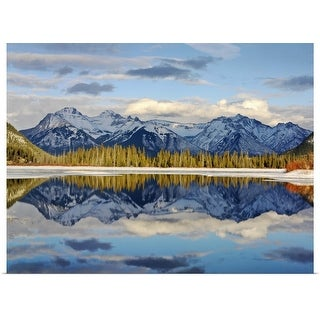 """Canada, Alberta, Banff, Banff National Park, snow covered mountains"" Poster Print"