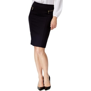 MICHAEL Michael Kors Womens Pencil Skirt Fitted Zipper Trim