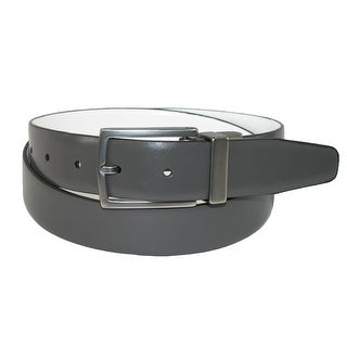 Kenneth Cole Reaction Men's Leather White to Grey Reversible Belt - white to grey