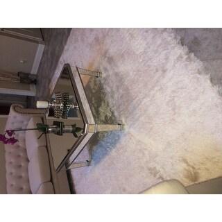 """Safavieh Handmade Silken Glam Paris Shag Ivory Rug - 8'6"""" x 12'"""