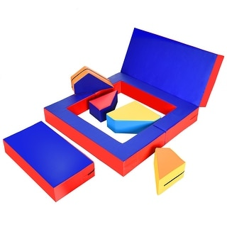 Link to Costway 4-in-1 Crawl Climb Foam Shapes Playset Softzone Toy Toddler - see details Similar Items in Building Blocks & Sets