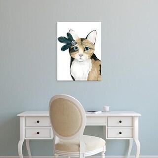 Easy Art Prints Grace Popp's 'Downton Cat II' Premium Canvas Art