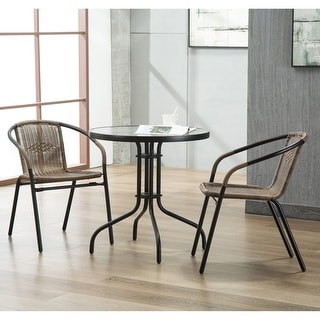 Link to The Curated Nomad Clopin Rattan Indoor/Outdoor Dining Chairs (Set of 2) Similar Items in Dining Room & Bar Furniture