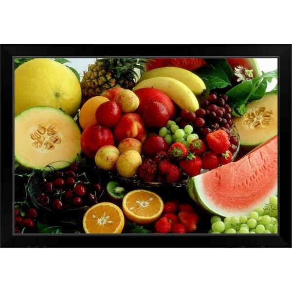 """""""Various Fruit"""" Black Framed Print"""