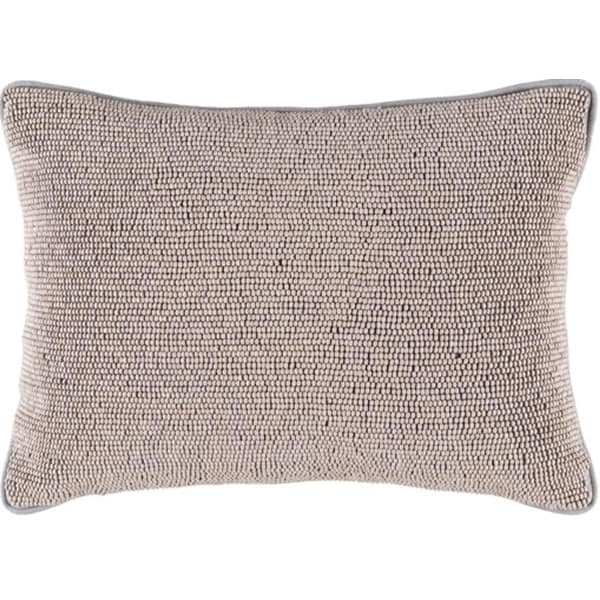 """13"""" x 19"""" Ash with Moon Gray Piping Contemporary Decorative Throw Pillow- Down Filler"""