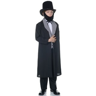 Underwraps Abraham Lincoln Presidential Child Costume - Black/Grey